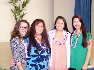 left to right: Kathryn Garcia, Kala'io Nihueu, Jaclyn Sakamoto and Daryl Jean Chun-Pescaia
